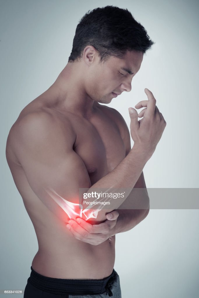 I can't workout with this injury : Stock Photo