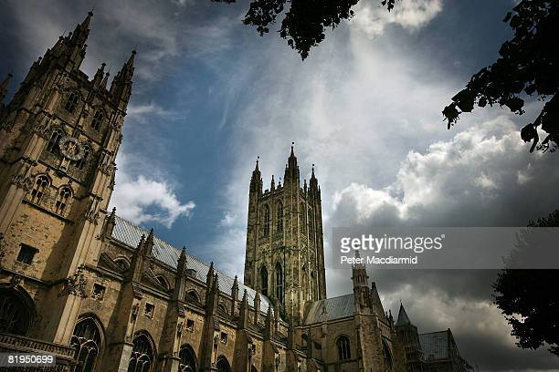 Canterbury Cathedral stands under clouds on July 16 2008 in Canterbury England About 650 senior members of the clergy from the Anglican church are...