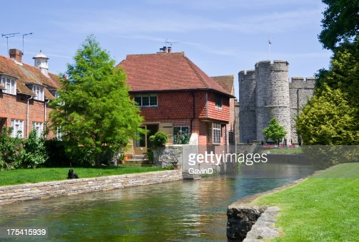 Canterbury - River Stour and Westgate Tower