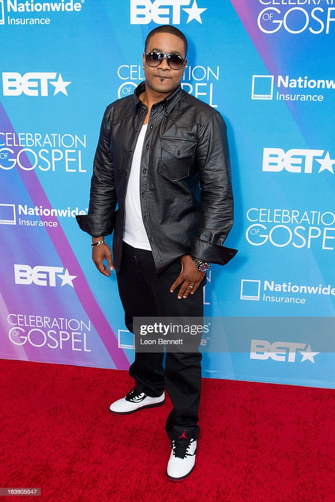 Canton Jones arrives at the BET Network's 13th Annual 'Celebration of Gospel' at Orpheum Theatre on March 16, 2013 in Los Angeles, California.