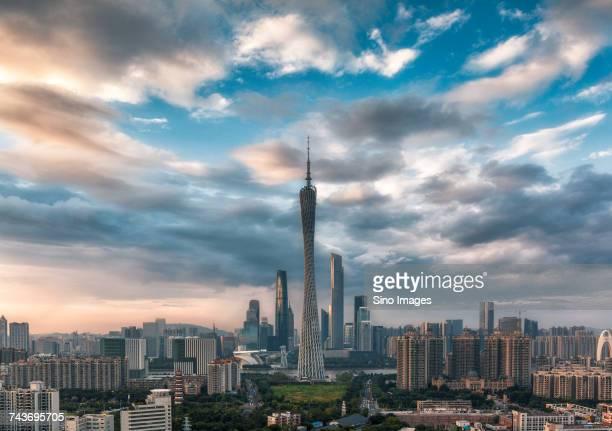 Canton Tower and city of Guangzhou, Guangdong, China