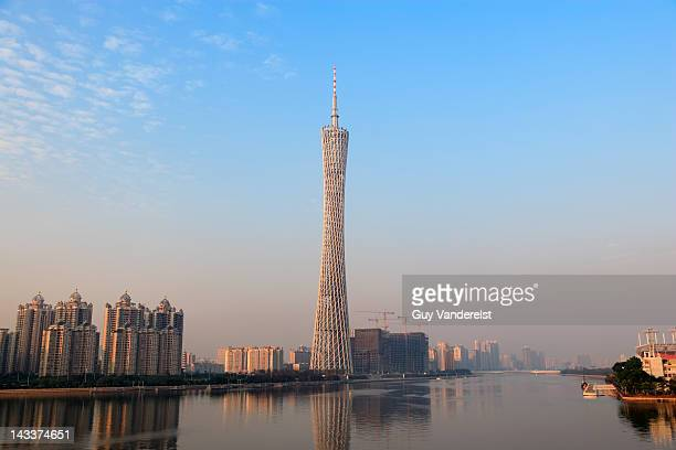 Canton Tower by the Pearl river, Canton, China.