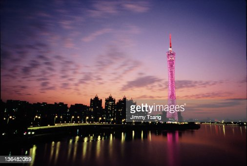 Canton TV Tower in Sunset glow