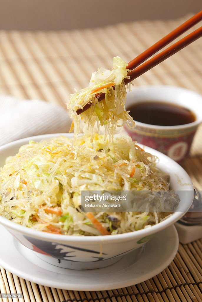 Cantonese Crab Meat Vermicelli : Stock Photo