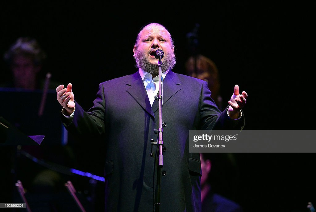 Cantor Helfgot performs at the Barclays Center on February 28, 2013 in New York City.
