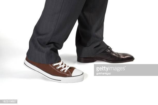 Chaussure en toile avec un (e) ami (e