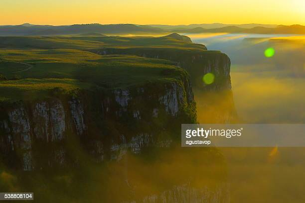 Canyon Fortaleza valley, dramatic sunset, Rio Grande do Sul, Brazil