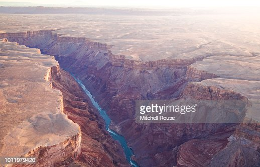 Canyon with a river : Stock Photo