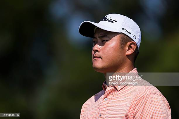 Cao Yi of China looks on during the Clearwater Bay Open as part of the PGA Tour China at the The Clearwater Bay Golf Country Club on 04 November 2016...