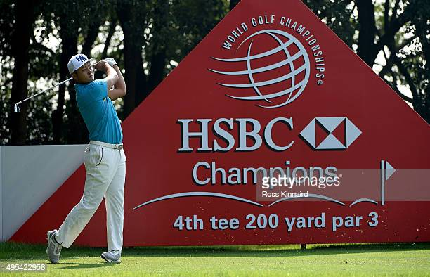 Cao Yi of China on the 4th tee during a practice round prior to the the WGC HSBC Champions at the Sheshan International Golf Club on November 3 2015...