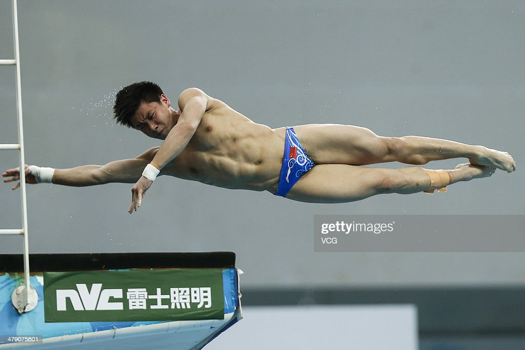 <a gi-track='captionPersonalityLinkClicked' href=/galleries/search?phrase=Cao+Yuan&family=editorial&specificpeople=5813673 ng-click='$event.stopPropagation()'>Cao Yuan</a> of China competes during the Men's 10m Platform Diving final on Day 3 of the FINA/NVC Diving World Series 2014 on March 16, 2014, in Beijing, China.