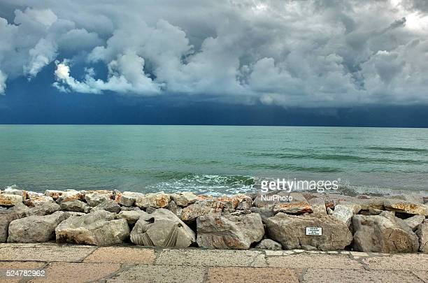 Caorle Veneto Italy May 2014 Adriatic sea coast view in the Caorle resort