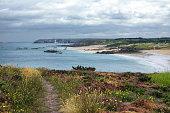 Cap Frehel (Cotes-d'Armor, Brittany, France): the coast at summer