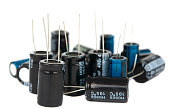 capacitors are isolated on a white background