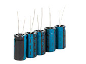 capacitors on a white background