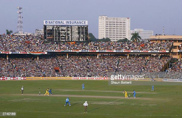 A capacity crowd at Eden Gardens during the TVS Triangular One Day Series Final between India and Australia at Eden Gardens on November 18 2003 in...