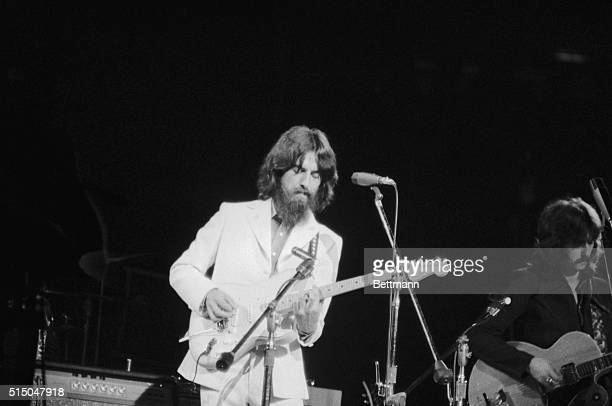 Capacity crowds of 20000 filled Madison Square Garden twice to watch exBeatles George Harrison and Ringo Starr and folk prophet Bob Dylan in rare...