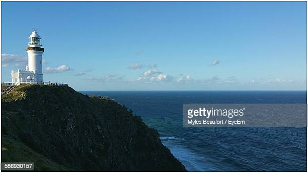 Cape Byron Lighthouse By Sea Against Sky