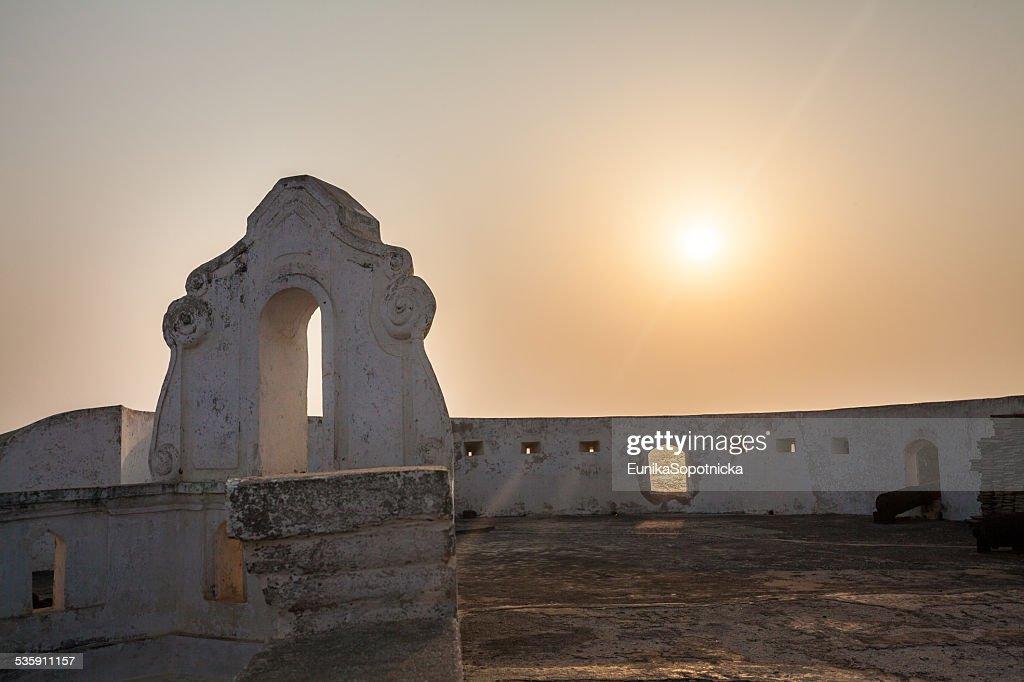 Castelo de costa de cabo, do Gana, a África Ocidental : Foto de stock