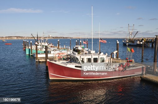 Cape cod fishing boats stock photo getty images for Mass commercial fishing license