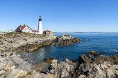 Landscape of the lighthouse of Cape Elizabeth - Portland