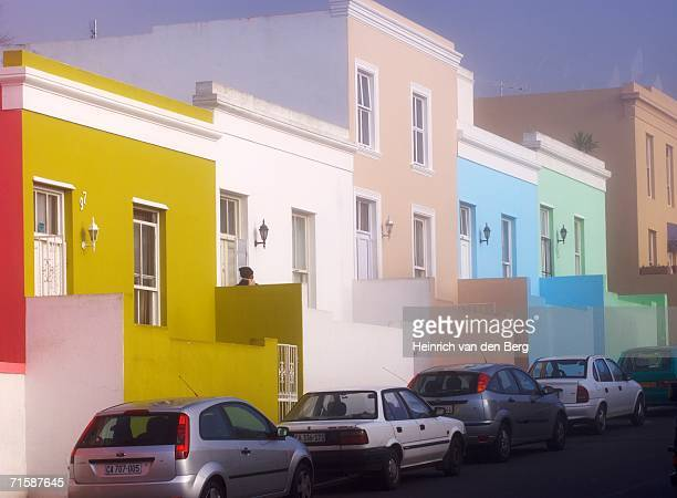 Cape Malay Houses with Cars in Street