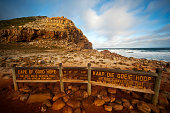 Sign of The Cape of Good Hope is at the southern tip of the Cape Peninsula. There is a misconception that the Cape of Good Hope is the southern tip of Africa, the truth is that the real southern tip o