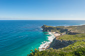 Cape Point is the most South Western Point of Africa. Located near the city of Cape Town, South Africa. The peninsula has towering rock cliffs, overlooking the beautiful ocean view and is a tourist ho