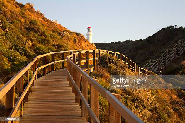 Cape Schanck lighthouse and boardwalk.