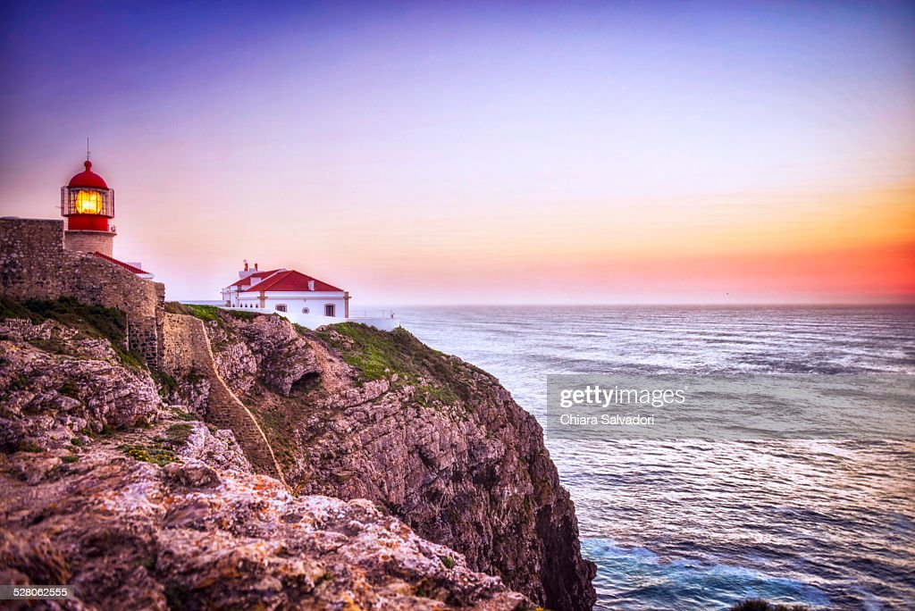 Cape St. Vincent at the sunset