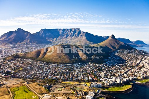 Cape Town aerial, South Africa : Stock Photo