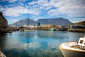 Cape Town harbour, Table Mountain