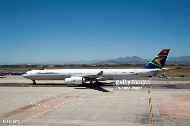 Cape Town International Airport South Africa South African Airways A340600 passenger jet taxiing