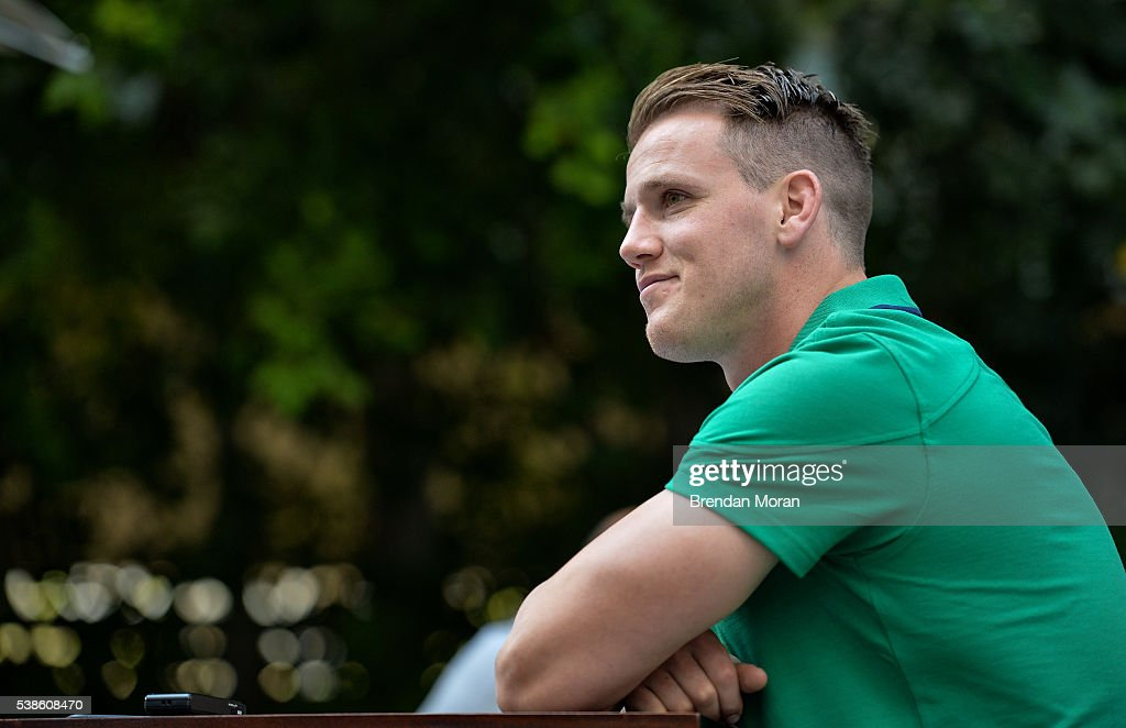Cape Town South Africa 7 June 2016 Craig Gilroy of Ireland during a press conference in Southern Sun Waterfront Hotel Cape Town South Africa