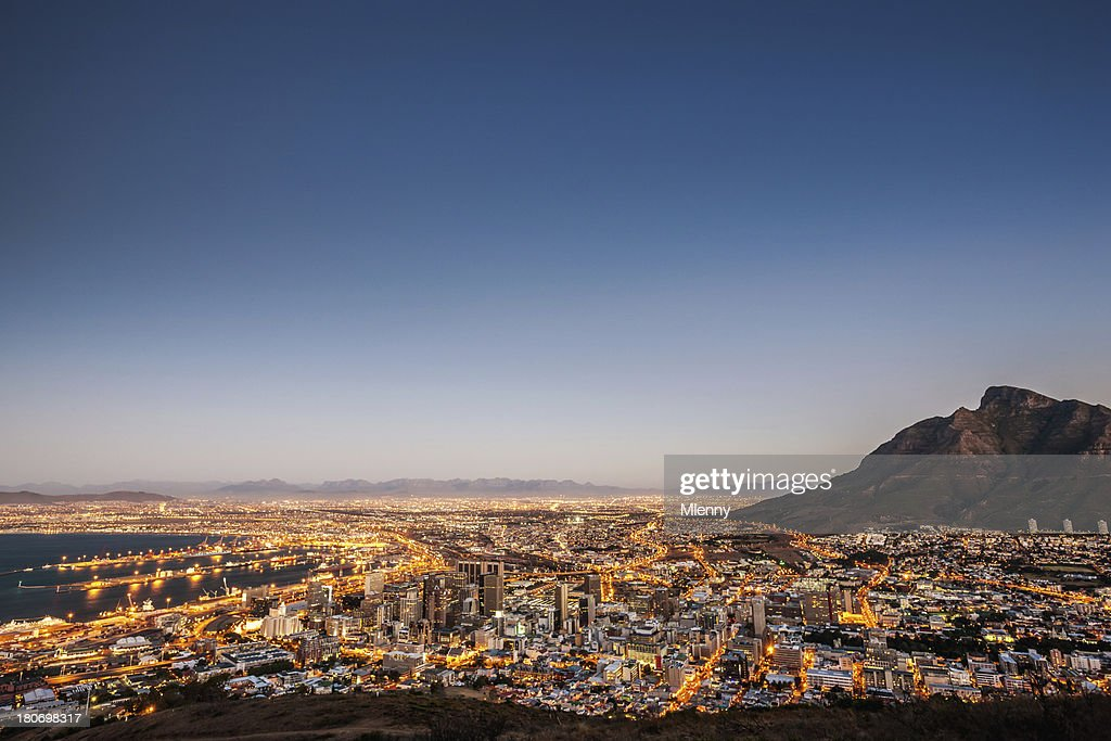 Cape Town South Africa Illuminated Night Scene Stock Photo Getty Images