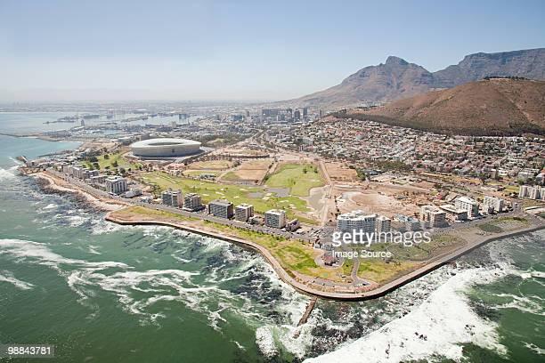 Cape town stadium and coast