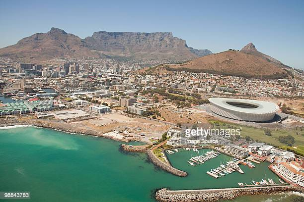Cape town stadium and coast