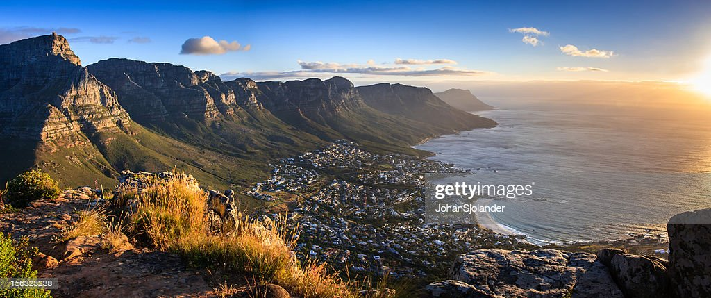 Cape Town Sunset Panorama : Stock Photo