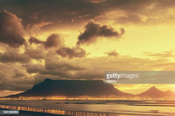 Cape Town Table Mountain Twilight Scene