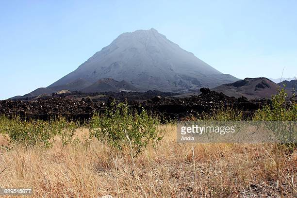 Cape Verde 'Pico do Fogo' or Mount Fogo stratovolcano