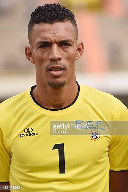 Cape Verde's goalkeeper Josimar Dias poses ahead of an international friendly football match between Congo and Cape Verde at the Leopold Sedar...