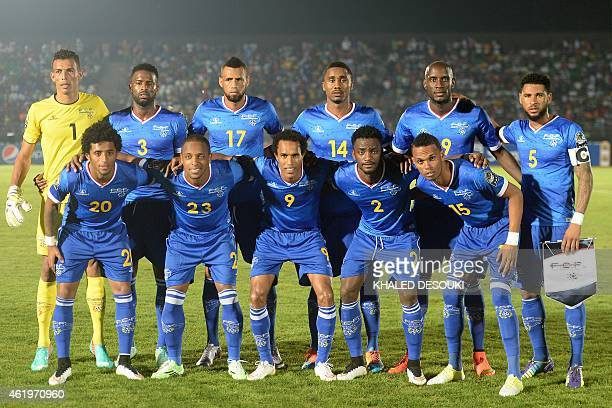 Cape Verde's squad goalkeeper Vozinha defender Fernando Varela midfielder Calu defender Gege forward Julio Tavares midfielder Babanco forward Ryan...