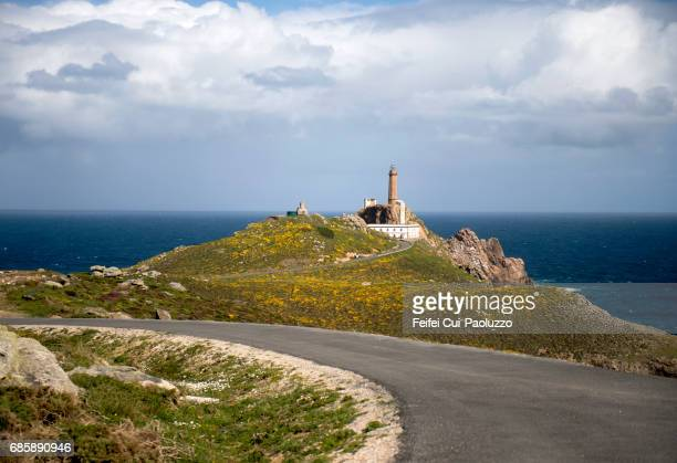 Cape Vilan Lighthouse in Galicia, Spain
