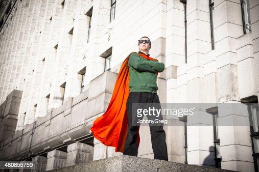 Caped Crusader Superhero