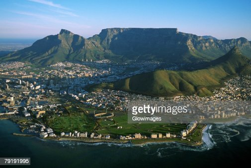 Capetown, South Africa, Aerial view : Foto de stock