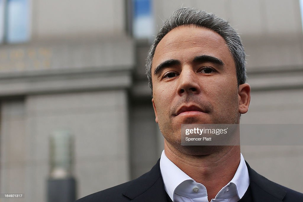 Capital Advisors portfolio manager Michael Steinberg walks out of a New York courthouse after being charged by U.S. prosecutors with engaging in insider trading on March 29, 2013 in New York City. Federal Bureau of Investigation (FBI) agents arrested Steinberg at his home in New York City at around 6 a.m. on charges of using inside information to make trades in shares of chipmaker Nvidia Corp and Dell Inc.