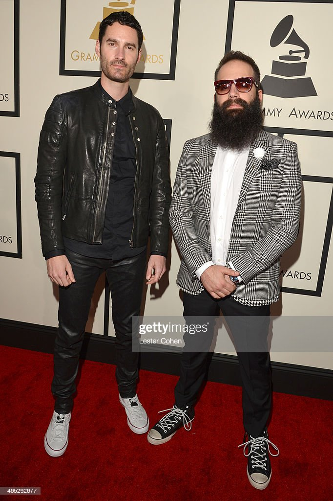 Capital Cities featured wearing Converse in support of the GRAMMY Foundation's GRAMMY Camp Ryan Merchant and Sebu Simonian attend the 56th GRAMMY...