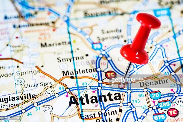 capital cities en el mapa de serie: Atlanta, Georgia, GA