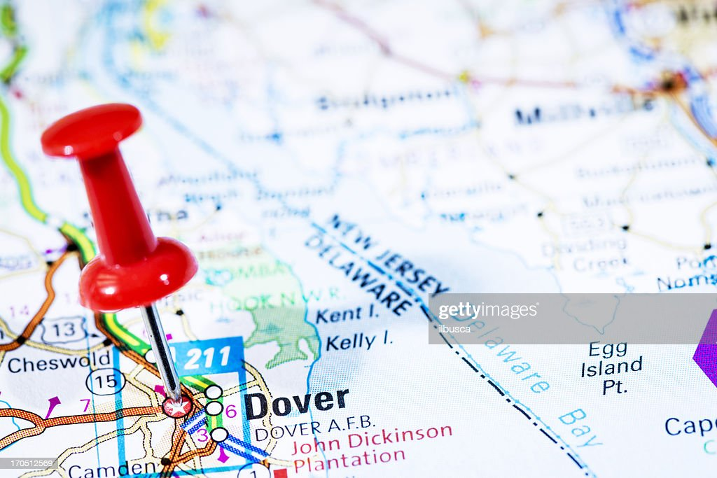 Us Capital Cities On Map Series Dover Delaware De Stock Photo - Delaware on us map