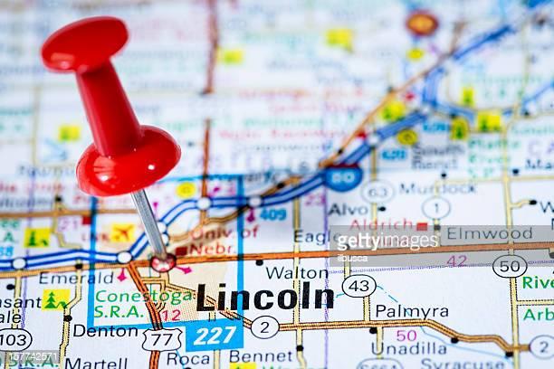 米国首都にマップシリーズ:リンカーン、ネブラスカ州ネブラスカ州)